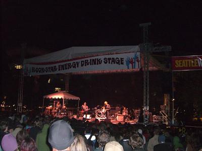 M. Ward on the Rockstar stage.