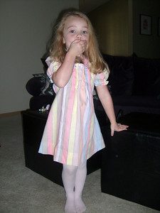 Modeling the dress made by Grandmama Carol.
