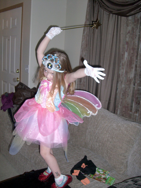 Playing crazy dancing fairy.