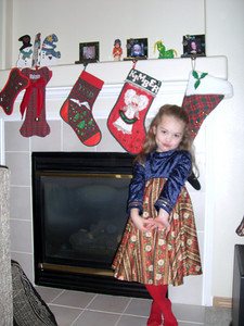 Stockings made by Grandmama Carol.