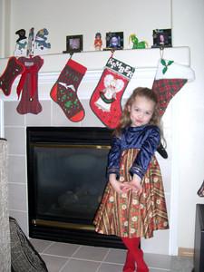 Stockings made by Grandmama Carol.
