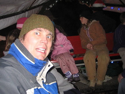 Seeing the Christmas Lights show at Warm Beach (Dec. '08) - I was scared.