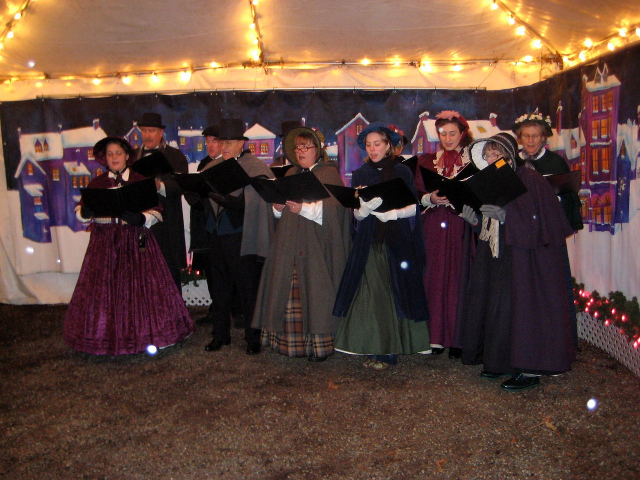 Seeing the Christmas Lights show at Warm Beach (Dec. '08) - The carolers were fun to watch.