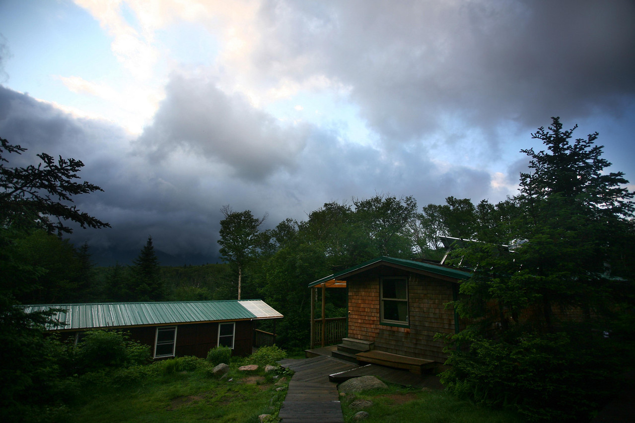 The next morning was quite dramatic, with clouds coming in and out after the heavy rains the night before.