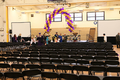 Empty seats after ceremony