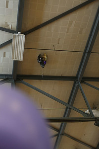 Baloons up on ceiling