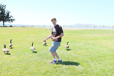 Eric and geese2