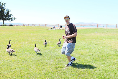 Eric and geese