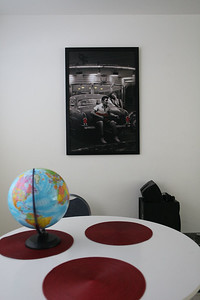 Dining table and poster