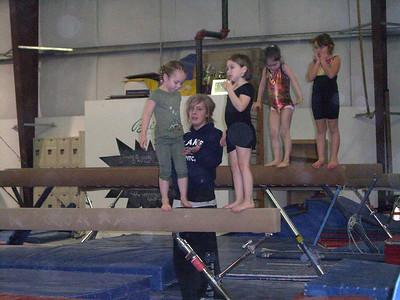 1.14.2009 - Kimber's 1st gymnastics class.