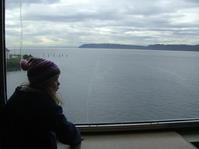 2.22.2009 - Kimber's first ride on a ferry, at Mukilteo.