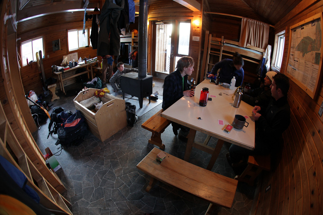 A typical cabin scene