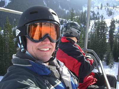 2.21.2009 - On the Skyline lift at Stevens Pass.