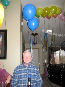 Papa getting a little nuts with the balloons.