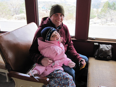 2009.10 - Tahoe. Virginia City. Taking the train to Gold Hill.