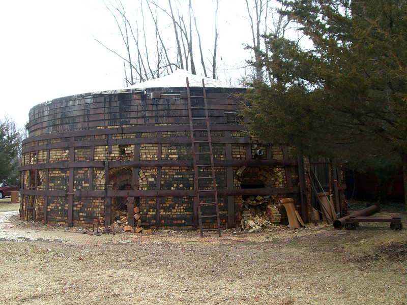 March 2009 - Visiting Grandma in Illinois; at the brickyard where Dad worked as a teenager. One of the furnaces.