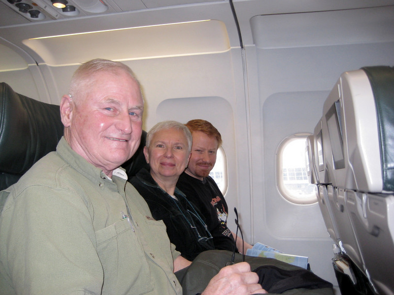 March 2009. On the plane waiting for take-off...heading to Illinois (via St. Louis).