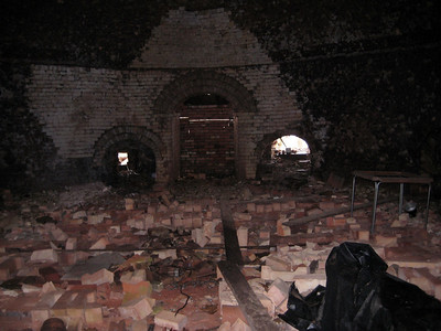 March 2009 - Visiting Grandma in Illinois; at the brickyard where Dad worked as a teenager. Inside one of the furnaces.