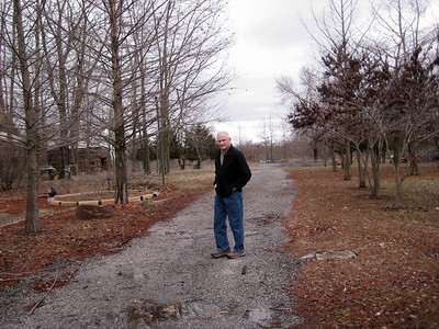 March 2009 - Visiting Grandma in Illinois; at the brickyard where Dad worked as a teenager.