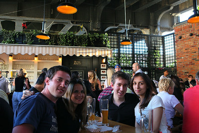 Group at beer garden