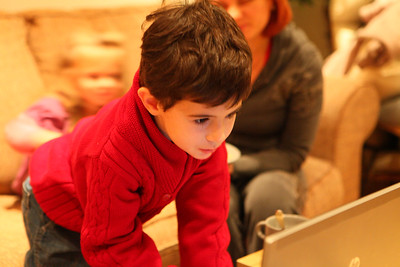 Danya on a PC at young age