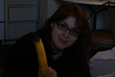 Not impressed with the banana Dhiren put in my last present.