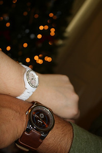 We both got each other watches too!
