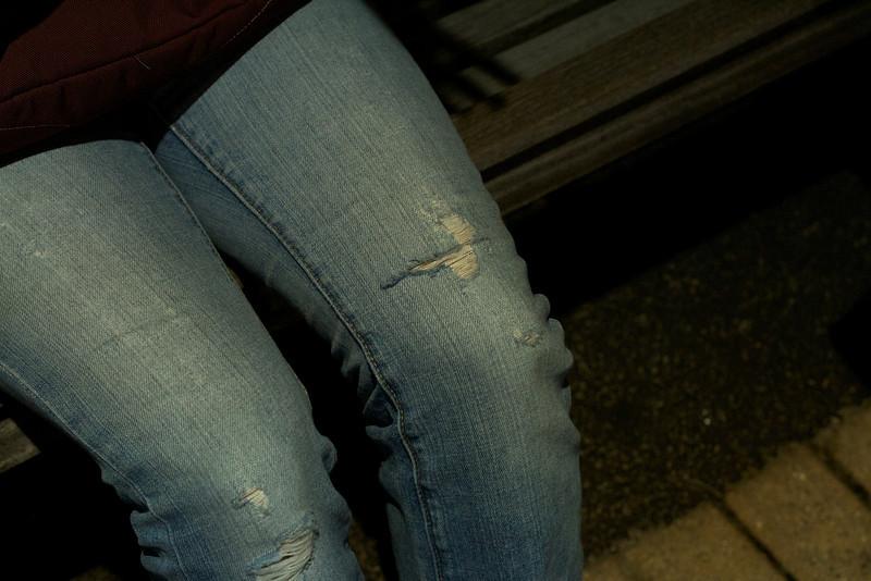 Sara's informal pair of jeans.