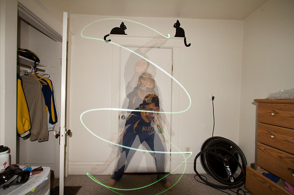 Fun with light painting and the strobe function on my flash.