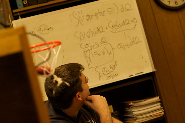 Frank in Good Will Hunting mode.