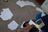 This is what my living room looked like all month.  Except when it was messier. Each of those piles is a subject for the math exam.