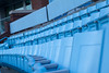 Blue seats!