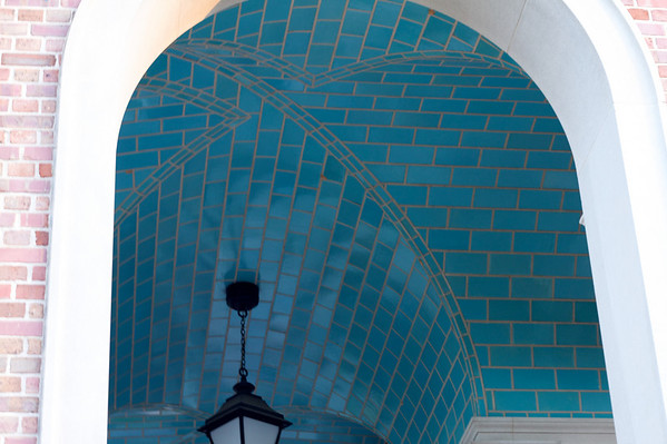Blue tile under the belltower.  Just like the bathrooms!