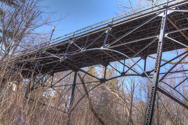 A cool iron bridge in Bayfield, MI.