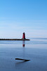 The lighthouse in Manistique, MI.
