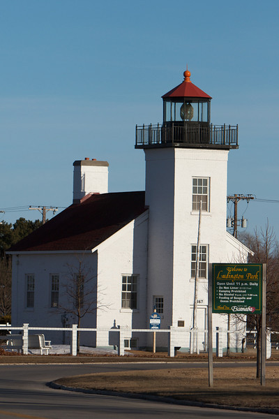 The old lighthouse in Escanaba, Michigan.