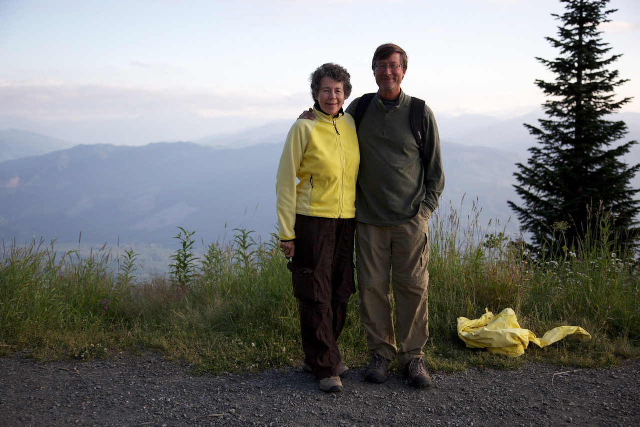 Josh's Dad and Aunt before our hike up Saulk mountain.