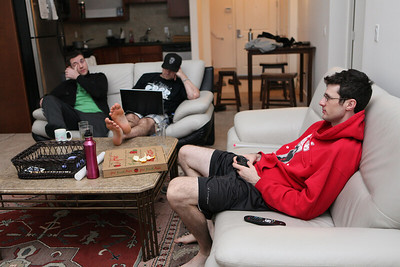All 3 on couches