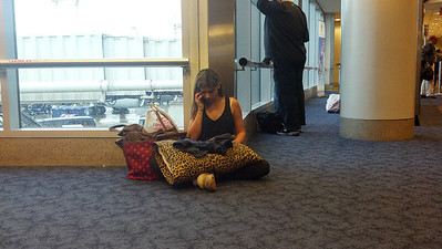 She was so lonely at the airport