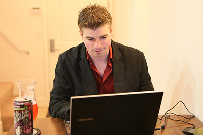 Mike at laptop