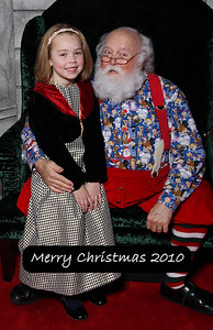 December 2010 - Kimber's picture with Santa Claus, this year at Alderwood Mall.