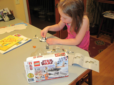 Apr '11 - Playing with her Star Wars legos