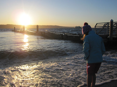 July '11 - At the boat landing by the Mukilteo ferry