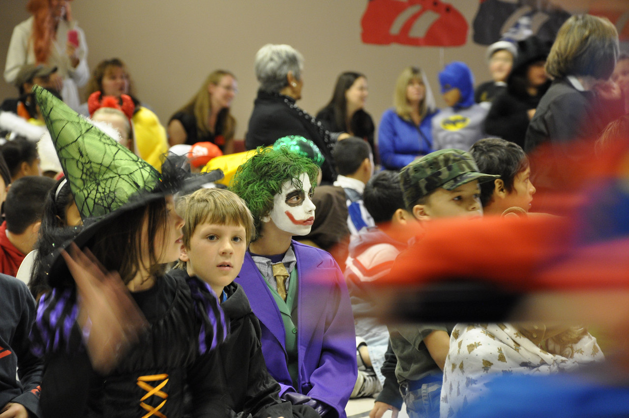 Halloween Pumpkin Parade at Columbia Elementary - One of the kids dressed as the Joker