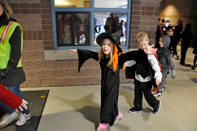Halloween Pumpkin Parade at Columbia Elementary - Kimber returning to class