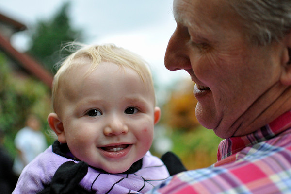 2011.10 - Boo Bash at Rosehill Community Center with Bella and her family. Baby Josh with Ryan.