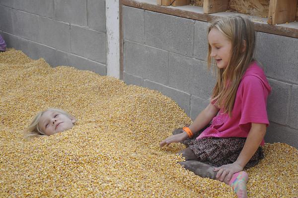 Oct. '11 - Pumpkin Farm. Getting buried in corn!