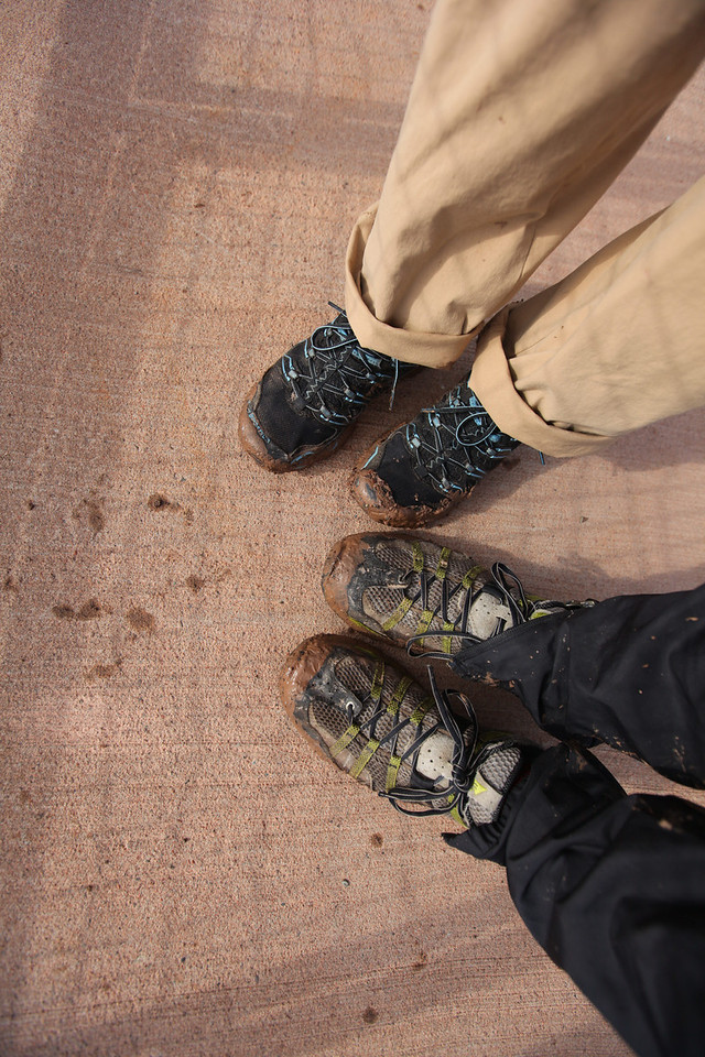 A lot of mud attached itself to our shoes