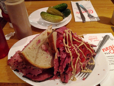 Carnegie's Deli offers lots of meat on sandwiches