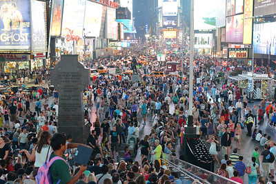 Very busy Times Square